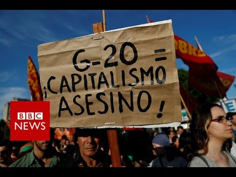G20 protesters condemn 'demonstration of power' - BBC News