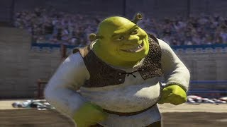 Shrek 2000% speed but when Shrek smiles it's normal speed and zoomed in on his face
