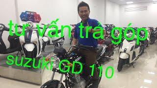 [ Mua xe trả góp ] trả góp suzuki GD 110phong cách hiện đại mang kiểu dáng cổ điển .