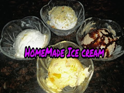 Video 4 Flavoured Homemade ice cream with only 3 ingredients recipe in hindi