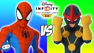 Spiderman VS Nova Disney Infinity 3.0 Toy Box Versus Fight