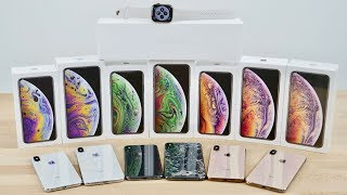 iPhone XS, XS Max & Apple Watch 4 Unboxing! All Colors