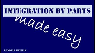 Integration by parts made easy