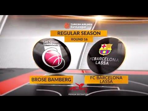 EuroLeague Highlights RS Round 16: Brose Bamberg 85-65 FC Barcelona Lassa