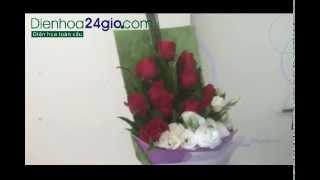 DIENHOA24H, Điện Hoa 24 Gio, Send Flower To VietNam - Bó Hoa Hồng, Lan Tường