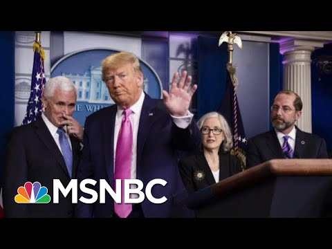 Trump Addresses Coronovirus Surrounded By Public Health Experts. | Morning Joe | MSNBC