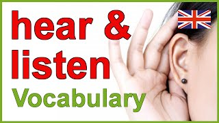 Hear and listen - Difficult English words | Vocabulary