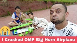 I crashed my OMP Big Horn RC Airplane