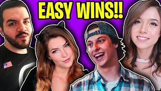 SQUAD VICTORY ROYAL ft. POKIMANE, COURAGE & KITTY!! (Cizzorz Fortnite Battle Royale Squads Gameplay)