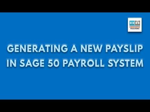 Free Sage 50 Payroll Tutorial - Creating Payslip | Osborne Training ...