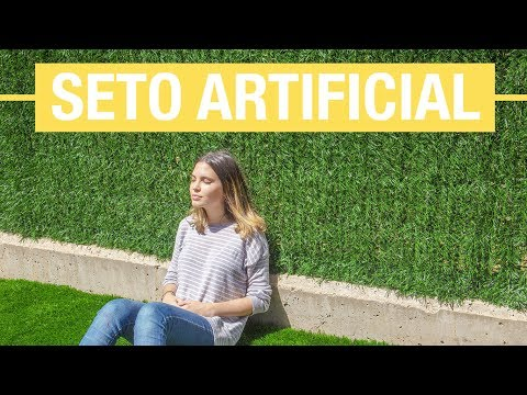 Cómo colocar un seto artificial en la terraza · Handfie DIY