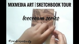 Sketchbook Tour| Watercolor Illustrations| Food Illustrations