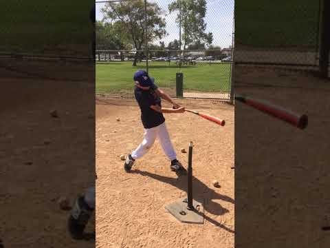 Carl Brown Baseball Academy Joseph Padilla - batting tee