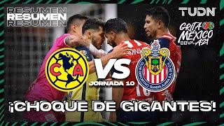Resumen | América vs Chivas | Grita México BBVA AP2021 J10 | TUDN