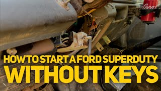 How to start your SuperDuty without keys | Why you should always lock your truck!