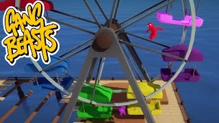 Gang Beasts - Ferris Wheel Destruction [Father And Son Gameplay]