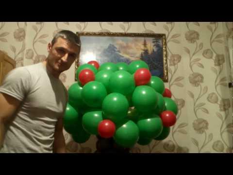 Дерево из воздушных шаров/A tree made of balloons