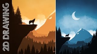 How to EASILY Draw 2D Landscapes in Photoshop ep. 01