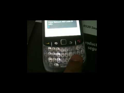 comment trouver le code mep blackberry curve 8520