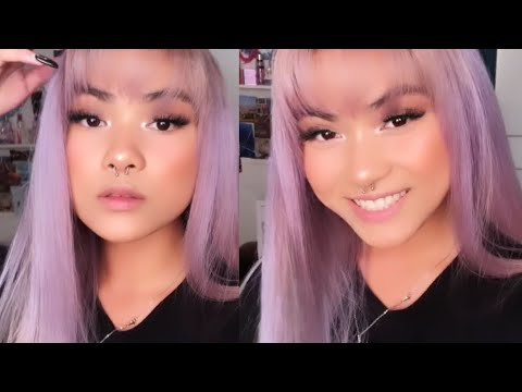 dying my hair lavender with Manic Panic