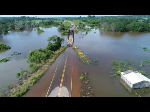 '.Dnit eleva ponte sobre o rio Araras na BR-425 por causa da cheia em Rondônia.'