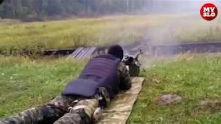 Тренировка бойцов ОМОН на полигоне