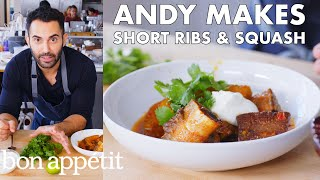 Andy Makes Braised Short Ribs with Squash | From the Test Kitchen | Bon Appétit