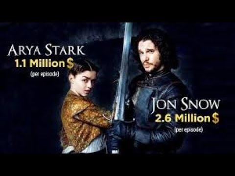 Arya Stark and Other Game Of Throne Cast Salary In Urdu Or Hind