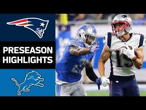 Patriots vs. Lions | NFL Preseason Week 3 Game Highlights