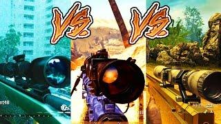 The Evolution Of ALL MODERN WARFARE Sniping  MW1 MW2 & MW3