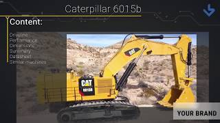 Rupsgraafmachines Caterpillar 6015B
