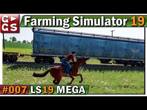 LS19 MEGA 🚜 ZUG ÜBERFALL als COWBOY! #7 LANDWIRTSCHAFTS SIMULATOR 19 (видео)