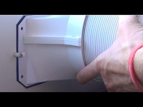 Abluftschlauch im Fenster - Klimagerät Schlauch Fensterdurchführung DIY - AC AirLock- Hot Air Stop