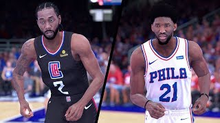 NBA 2K19 - Los Angeles Clippers vs. Philadelphia 76ers - Full Gameplay (Updated Rosters)