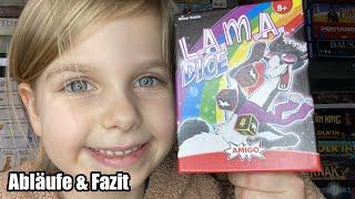 Lama Dice (Amigo) - Abläufe inkl. gameplay und Fazit - ab 8 Jahre aber auch für Jüngere