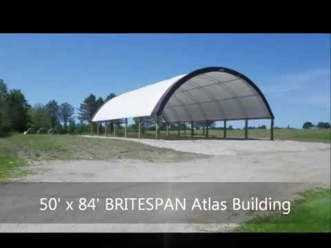 BRITESPAN Building Systems 50' x 84' Atlas Building being Constructed