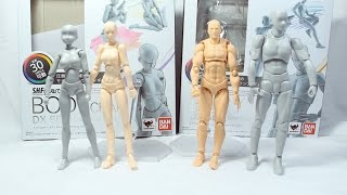 S.H. Figuarts Body-Chan and Body Kun Unboxing/Review + Figma Archetype Comparison