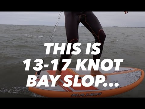 Wingsurfing: Chasing Waves in the Bay... fun in 13-17 knot slop