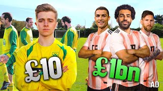 £10 Football Team Vs. £1,000,000,000 Dream Football Team