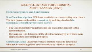 Auditing and Assurance Services Chapter 8 (Audit Planning and Materiality)