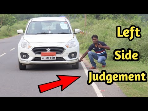 Left side judgement in car ( Full explanation in hindi )