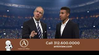 Chicago Injury Law Firm commercial with Chicago Fire soccer star Brandon Vincent and Howard Ankin