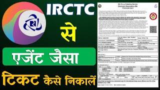 IRCTC से टिकट कैसे निकाले || एजेंट जैसा || How to Print Rail Ticket from IRCTC Like Agent