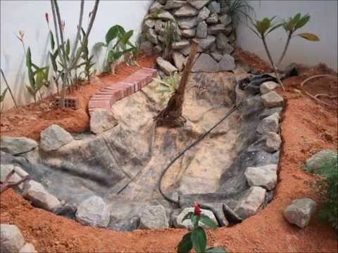 My DIY Koi Pond & Waterfall Project