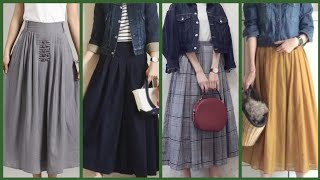 Beautiful And Outstanding Knee Length Middi Skirts Dress Design For College  Girl And Business Women