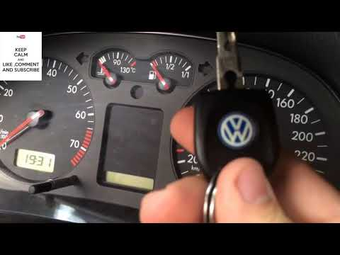 VW Secret Menu - OIL RESET - Service INSP - VW Hidden menu