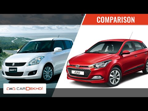 Maruti Swift Vs Hyundai Elite i20 | Video Comparison | CarDekho.com