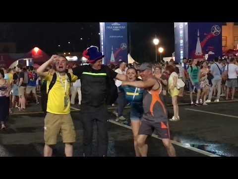 Бразильцы в Самаре отпраздновали победу над Мексикой