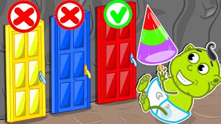 No No Dont Open The Wrong Door 7. Lion Family   Cartoon For Kids