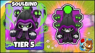 """WORLD'S FIRST """"NECROMANCER TOWER"""" TIER 5 SOULBIND // Bloons TD 6 Gameplay (BTD 6 Gameplay Part 8)"""